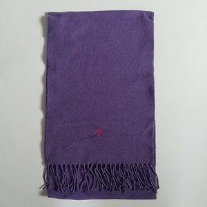 Ralph Lauren Purple Soft Cotton Scarf ~ France